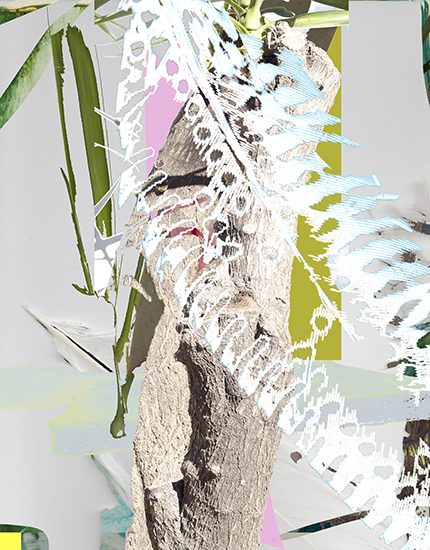 Painterly Anagram II, 45 x 35 cm, digital collage on photo paper on dibond, Jenny Wilson